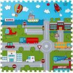 Puzzle-Teppich 9-teilig, Straße, 30 x 30 x 1 cm (GLO795800455)