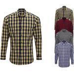 PW250 Premier Workwear Men's Mulligan Check Cotton Long Sleeve Shirt
