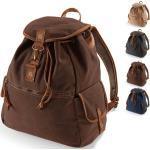 Vintage Quadra Herrentaschen mit Reißverschluss gepolstert