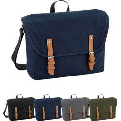 Vintage Quadra Messenger Bags & Kuriertaschen mit Reißverschluss gepolstert für Herren