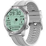 QFSLR Fitness Armband Mit Blutdruckmessung,Smartwatch Fitness Tracker Mit Pulsmesser Wasserdicht IP68 Bluetooth Telefonie Blutdruck & Blutsauerstoff Fitness Uhr Schrittzähler,Grau