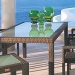 Quadratischer Tisch 'Bellini' , mocca