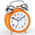 Quarzwecker mit lautem Glockensignal Atlanta Orange