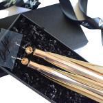 Quaste Ohrringe Rose Gold Leder Handgefertigte Lange Leopard Druck Swarovski-Kristall