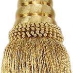Quaste/Raffhalter 20cm mit Kordel 40cm Silber Gold glänzend Troddel DekoVorhänge