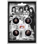Queen Button Set Faces 5 Stück Buttons Badge Set Anstecker Rock Band Freddie Mercury Group Design