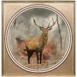 queence Acrylglasbild Hirsch bunt Acrylglasbilder Bilder Bilderrahmen Wohnaccessoires