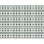 queence Fliesenaufkleber Mosaik Muster blau Wandtattoos und Wandsticker Wohnaccessoires