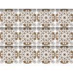 queence Fliesenaufkleber Mosaik Muster braun Wandtattoos und Wandsticker Wohnaccessoires