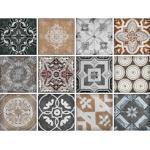 queence Fliesenaufkleber Mosaik Muster grau Wandtattoos und Wandsticker Wohnaccessoires