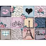 queence Fliesenaufkleber »Paris«, bunt