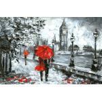 queence Leinwandbild »London«, rot
