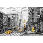 queence Leinwandbild New York gelb Leinwandbilder Bilder Bilderrahmen Wohnaccessoires