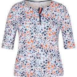 Rabe Damen Shirt mit Tupfen und halblangen Ärmeln 44