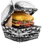 Bunte Oeko-Tex Herrensocken & Herrenstrümpfe mit Burger-Motiv Größe M