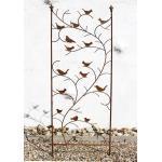 Rankhilfe mit Vögel 120705 Rankgitter aus Metall H-150 cm B-50 cm Kletterhilfe 4019111800108 (120705)