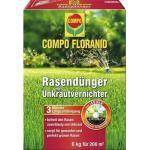 Rasendünger Compo Floranid mit Unkrautvernichter 6 kg 200 m²