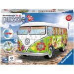 Ravensburger 12532 Volkswagen T1 - Hippie Style 162 Teile 3D Puzzle