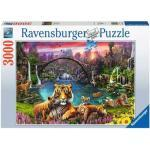 RAVENSBURGER 16719 Puzzle Tiger in paradiesischer Lagune 3000 Teile