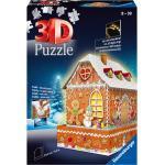 Ravensburger 3D-Puzzle »Lebkuchenhaus bei Nacht«, 216 Puzzleteile, inkl. LED-Beleuchtung; Made in Europe, FSC® - schützt Wald - weltweit