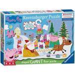 Ravensburger 5534 Peppa Wutz – 32-teiliges Weihnachts-Puzzle mit Türaufhängung für Kinder ab 3 Jahren