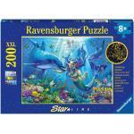 Ravensburger Leuchtendes Unterwasserparadies 200 Teile XXL Kinderpuzzle - Puzzle für Kinder ab 8 Jahren - Leuchtet im Du