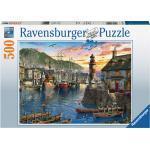 RAVENSBURGER Morgens am Hafen Puzzle, Mehrfarbig