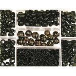 Rayher Perlen-Set Glasperlenbox schwarz