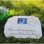 Re-Call Grabstein für Hunde oder Katzen, personalisierbar, mit wasserdichtem Foto, für Rasen und Garten