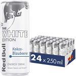 Red Bull Energy Drink, Kokos Blaubeere, White Edition, 24 x 250 ml, Dosen Getränke 24er Palette, OHNE PFAND