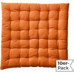 Redbest Stuhlkissen im 10er-Pack orange/orange 40x40x3 cm
