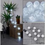 Redding Solarlichterkette LED Weiß, 10-flammig - Modern - Außenbereich - versandfertig innerhalb von 2-4 Werktagen