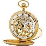 Regent Unisex-Armbanduhr Analog Handaufzug One Size, gold