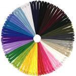 Reißverschluss, DOITEM 24 Farben Nylon Reißverschlüsse, 30cm lang, 2.5cm breit für Kleidung Tasche Mäppchen Kissenbezug, 72 Stück