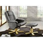 Relax-Sessel mit Hocker in verschiedenen Farben Grau