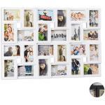 relaxdays Collage-Bilderrahmen weiß 86,0 x 57,0 cm