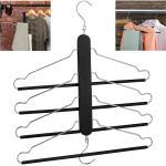 relaxdays Mehrfach-Kleiderbügel »Raumsparbügel mehrfach schwarz«