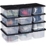 Relaxdays Schuhboxen Kunststoff 12er Set