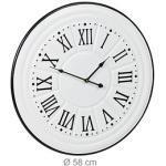 relaxdays Wanduhr Vintage weiß 58,0 cm Eisen