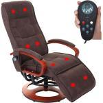 Relaxliege ARLES II, Relaxsessel Massagesessel, MIT Massage Stoff/Textil ' Wildlederimitat braun