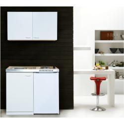 respekta Küchenzeile, Single, B 100 cm, mit 2er Kochfeld, inklusive Kühlschrank