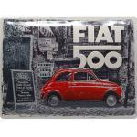 Retro Blechschild Fiat 500 Maße: 40x30cm