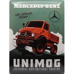 Retro Blechschild Mercedes-Benz - Unimog Maße: 30x40cm