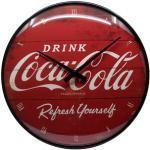 Retro Wanduhr Coca-Cola Logo Red Refresh Yourself