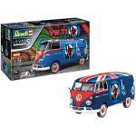 Revell 5672 Geschenkset VW T1 Tour-Bulli The Who, Fan-Edition, originalgetreuer Automodellbausatz für Fortgeschrittene, Starter Kit mit Basis-Zubehör