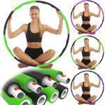 REXOO Hula-Hoop-Reifen »Hula Hoop Reifen Bauchtrainer 8-teilig Schaumstoff« (8-tlg), grün, grün