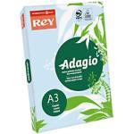 Rey Adagio Farbiges Papier DIN A3 80 g/m² Himmelblau 500 Blatt
