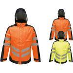 Orange Wasserdichte Winddichte Atmungsaktive Regatta Damenjacken mit Reißverschluss mit Kapuze Übergrößen