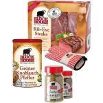 RIB EYE PREMIUM Set mit Frischfleisch, Steakpfeffer & Co. inklusive gekühltem Versand innerhalb von ca. 7 Arbeitstagen (da frisch zugeschnitten) Versand nur DE