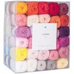 Rico Design Creative Ricorumi dk Set 60 Farben 25g - Häkelgarn / Baumwollgarn - Wolle / Garn zum Stricken und Basteln - DIY